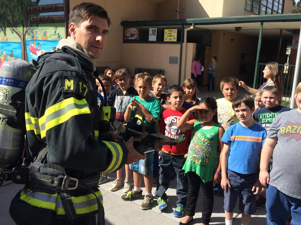 Fire fighters visit Pinewood